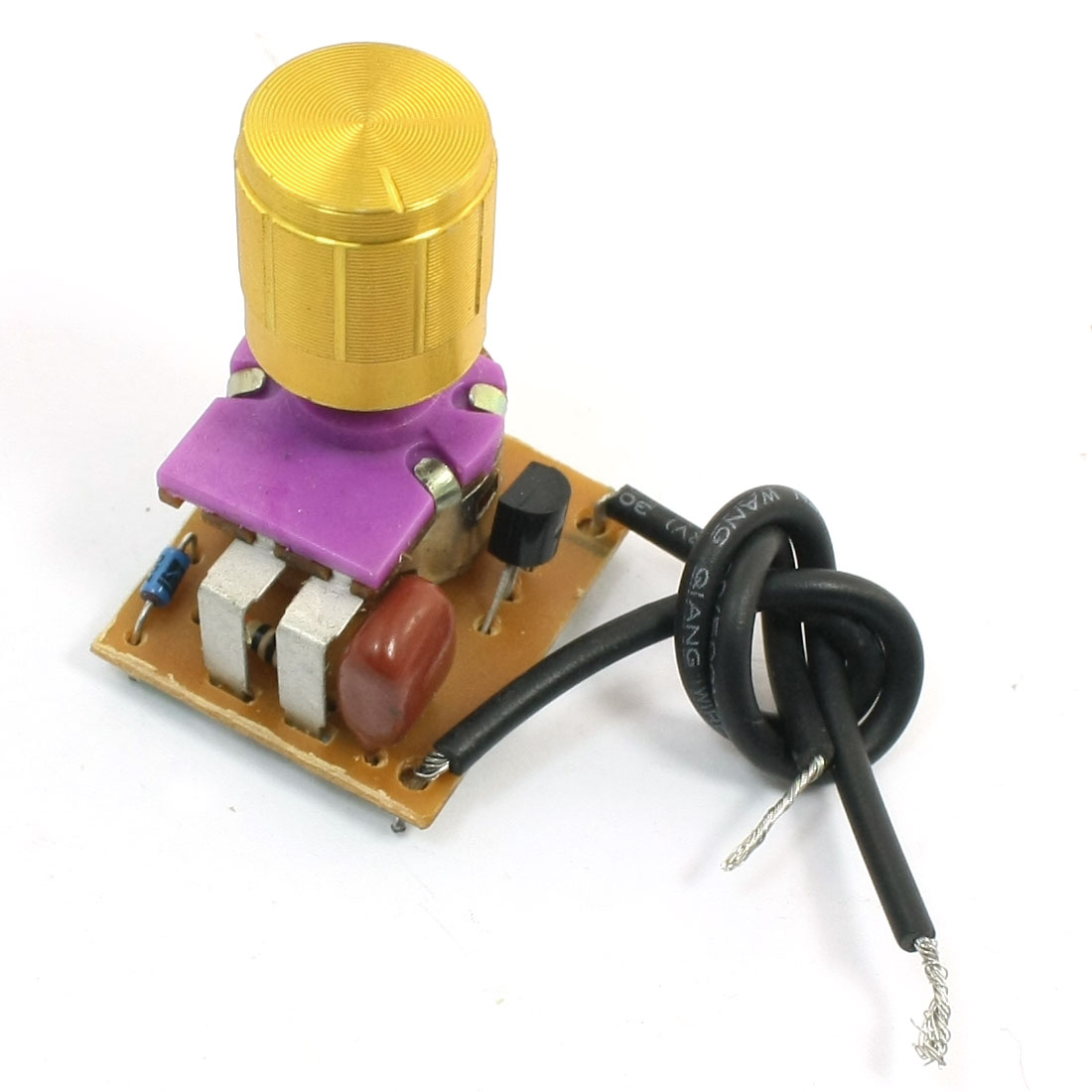 Table Lamp Full Range Dimmer Gold Tone Rotary Switch 2 Wire Connector