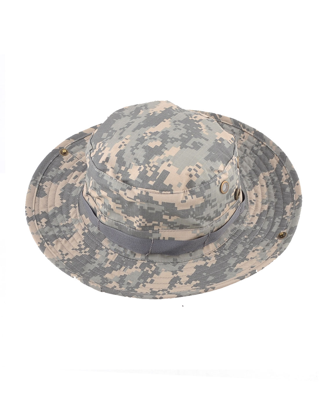 6cm Width Brim Army Green Camouflage Printing Military Bucket Hat for Unisex