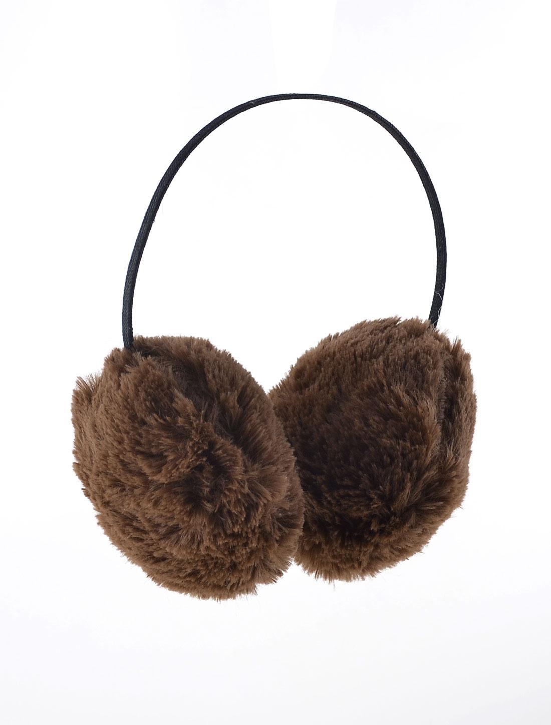 Coffee Color Soft Plush Ear Winter Warmer Earlap Earmuffs for Lady Man