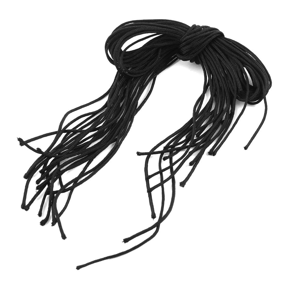 20 Pcs Decorative Art Black Nylon Handwork Chinese Knot Rat Tail Cord String