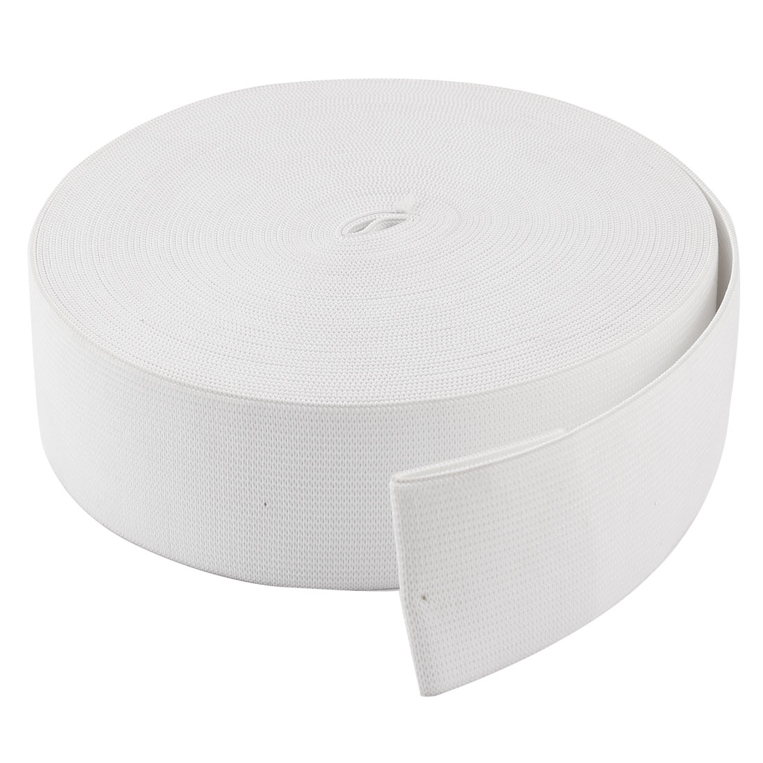 Household 50M 164Ft Length Stretchy Elastic Band Roll White 45mm Wide