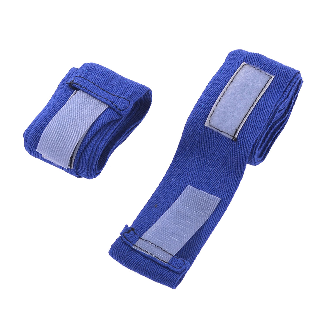2.3M Hook Loop Closure Design Texturing Blue Kickboxing Hand Wraps Pair