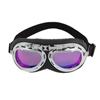 Motorbike Karting Sports Black Frame Purple Glasses Mirror Sunglasses for Men