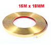 Auto Decorative Soft Plastic Moulding Trim Strip Sticker Gold Tone 15m x 18mm