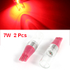 2 Pcs 7W T10 Red LED Car Auto Dashboard Panel Indicator Light Bulb 12V internal