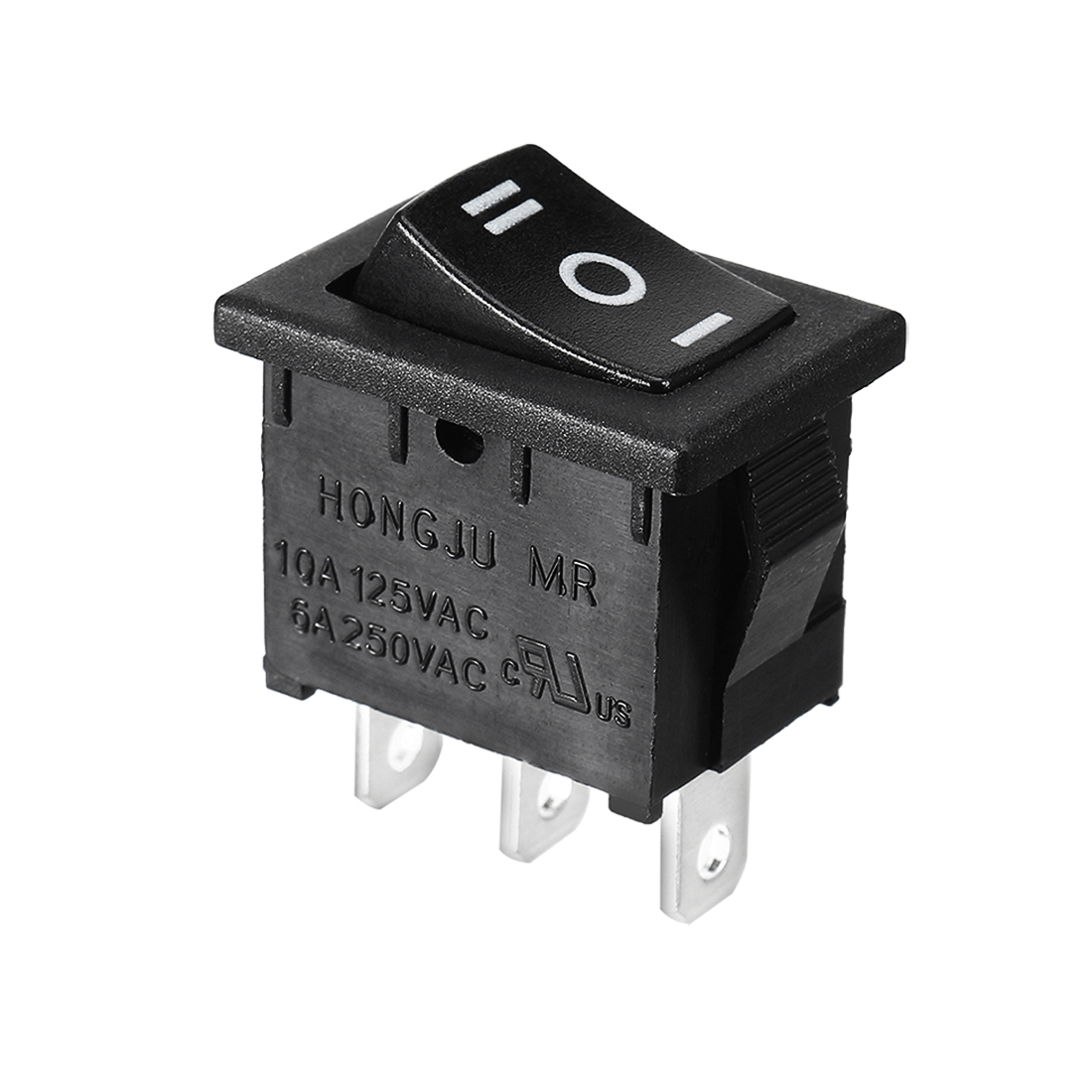 3-Pins 3 Position ON/OFF/ON SPDT Boat Rocker Switch 6A 250VAC 10A 125VAC