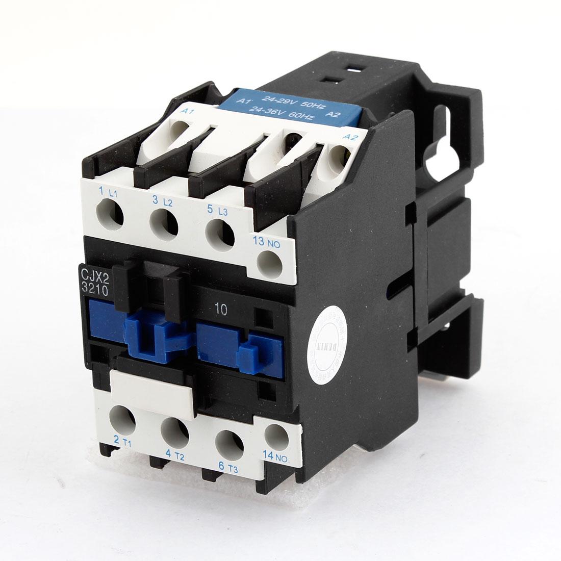 CJX2-3210 Ui690V Ith50A 3Poles 24-29/24-36V 50/60Hz Coil Circuit AC Contactor