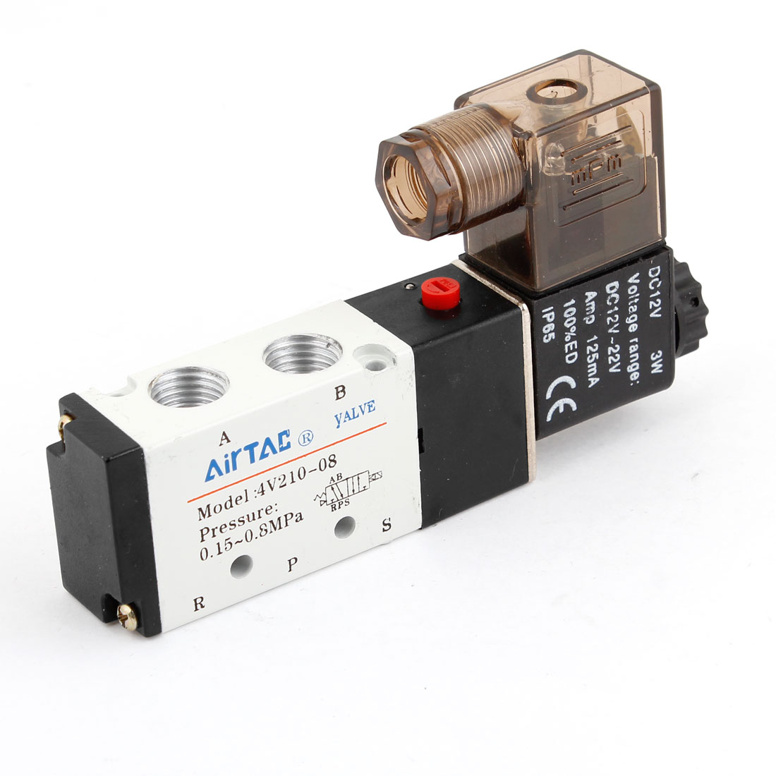 "DC 12V 3W 1/4""PT 1/8""PT Female Thread Port Air Control Solenoid Valve"