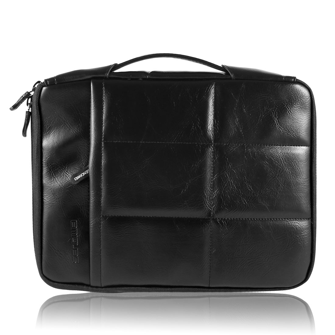 "Fleece Lining Sleeve Case Cover Handbag Black for 10.6"" Tablet Laptop Computer"