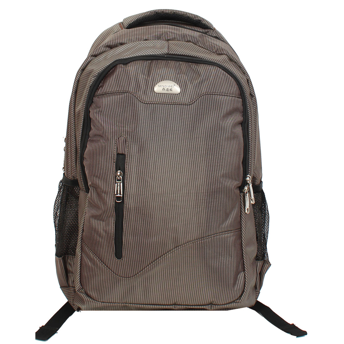 "Black Coffee Nylon 15"" 15.4"" Laptop School College Backpack Bag Case"