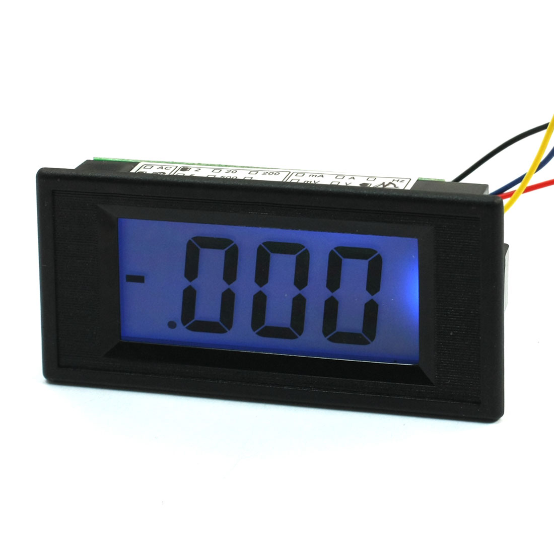AC/DC Powered 4 Wires LCD Display 0-2M Ohm Panel Resistance Meter