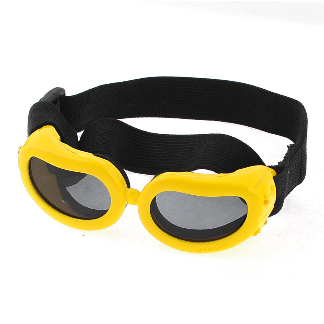 Pet Dog Yorkie Black Yellow Bone Print Single Bridge Adjustable Sunglasses