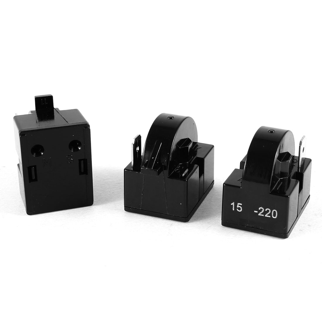 3 Pcs Black Plastic Housing 15 Ohm One Pin PTC Starter Relay for Refrigerator