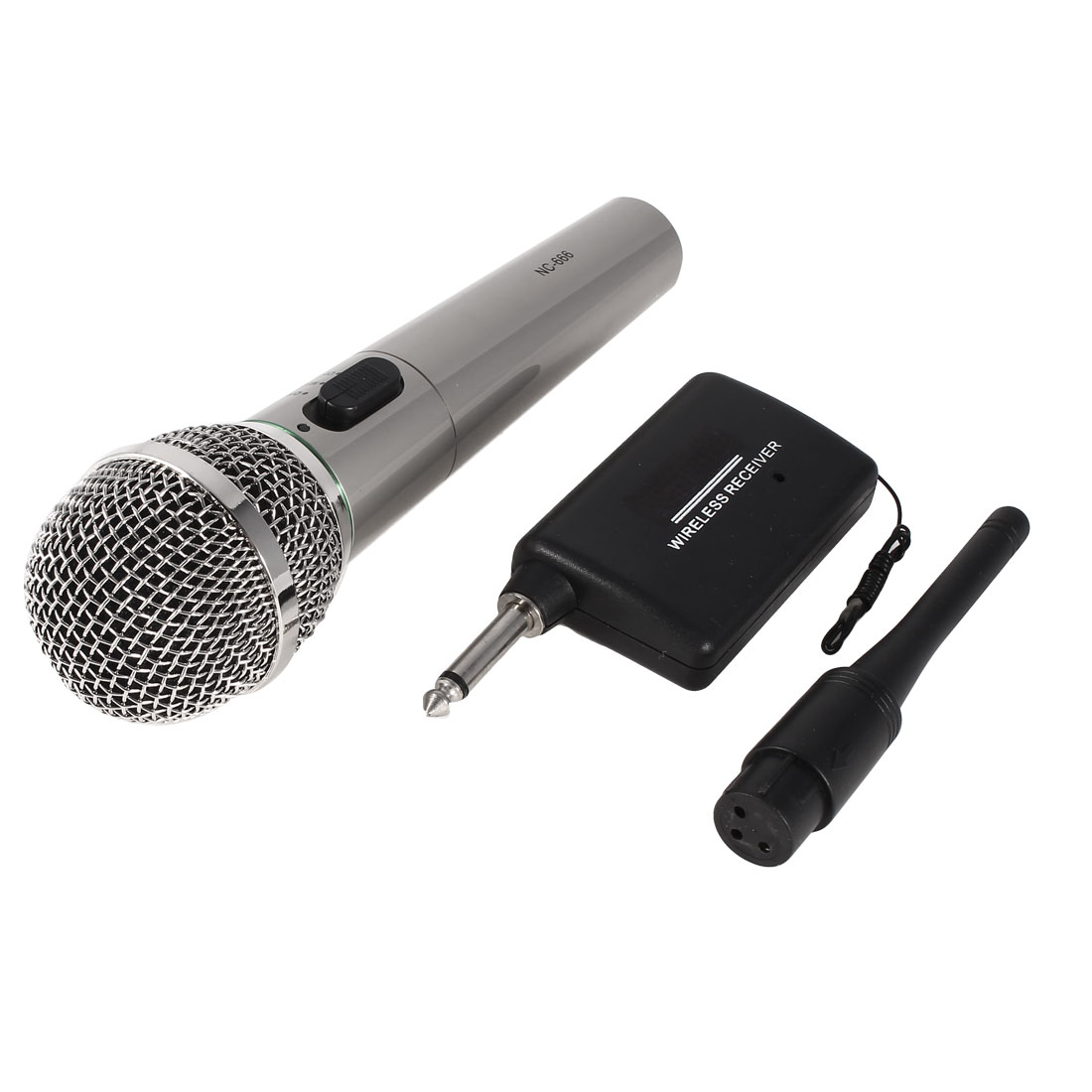 "6.35mm 1/4"" XLR Female Wireless Wired Receiver Handheld Mic Microphone"