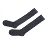 Pair Dark Gray Flowers Pattern Footed Hold Ups Socks Stockings for Women