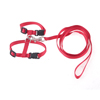 Pet Nylon Trigger Hook Adjustable Cat Harness Halter Leash Red 121cm Long