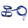 Pet Cat Dog Nylon Release Buckle Adjustable Harness Leash Blue 121cm Length