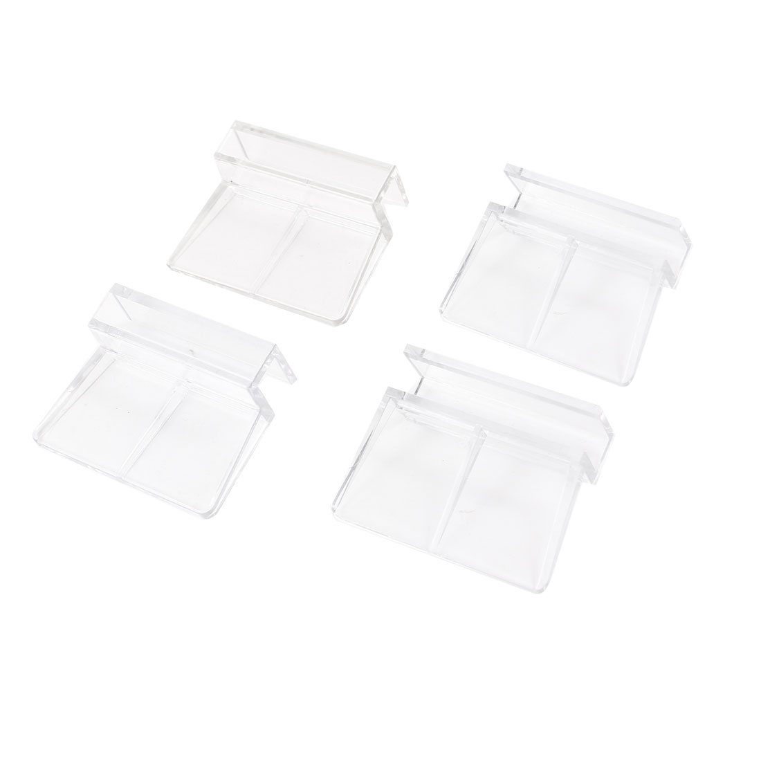 Clear Plastic 6-8mm Grass Thickness Aquarium Cover Holder Clip 4 Pcs