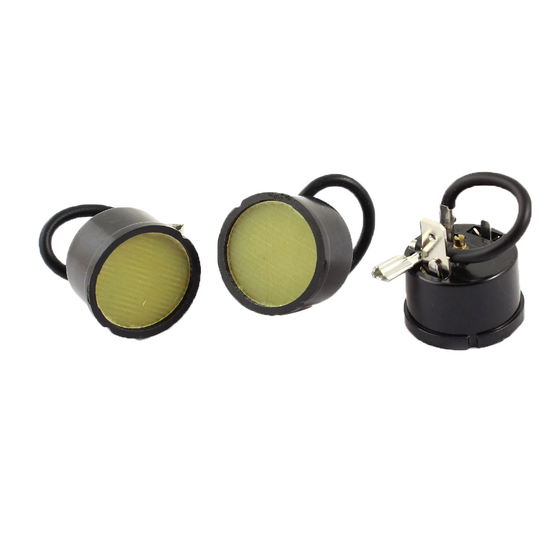 3pcs Round Shell Overload Thermal Protector Relay Starter for 1/5HP Fridge