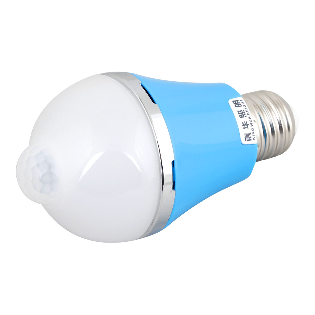 2700K-3500K 85-265V AC 7W E27 Warm White LED Sensor Light Lamp Bulb Blue