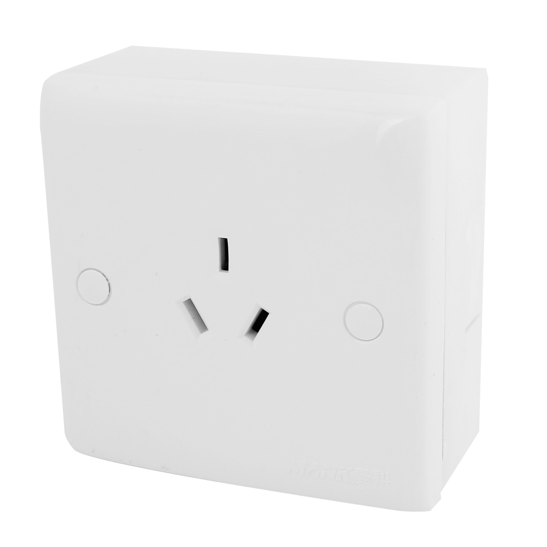 Home 10A 250VAC 3 Pin AU Outlet Wall Mounting Socket w Screws