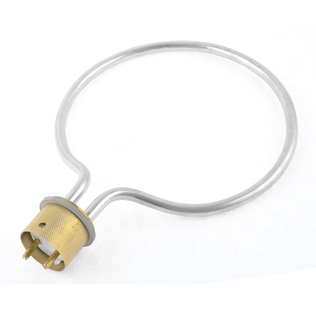 Electric Tubular Water Heater Element 21cm Dia 1000W 220V 2 Round Terminals Plug