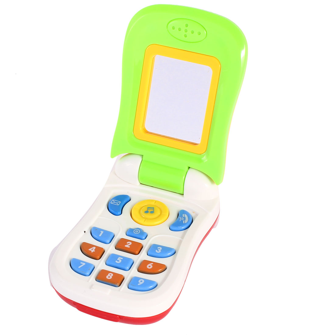 Baby Infant Colorful Plastic Music Photo Cartoon Pictures Mobile Phone Toy