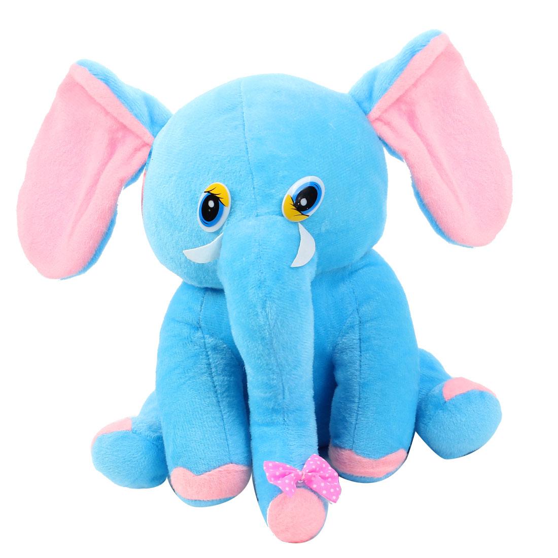 Collection Toy Velvet Elephant Design Car Auto Decoration Blue