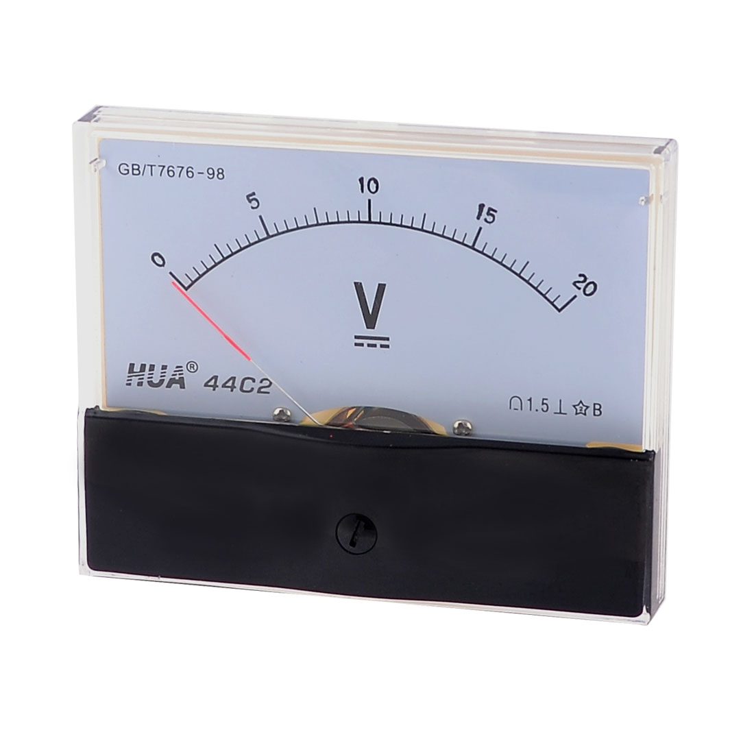 Class 1.5 Accuracy Plastic Casing Analog Voltmeter Gauge DC 0-20V