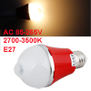 2700K-3500K 85-265V AC 7W E27 Warm White LED Sensor Light Lamp Red