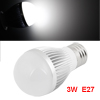 3W E27 White LED Light Bulb Energy Saving Globe Lamp AC 85-265V