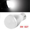 3W E27 White LED Light Bulb Energy Saving Globe Lamp AC 85-265V