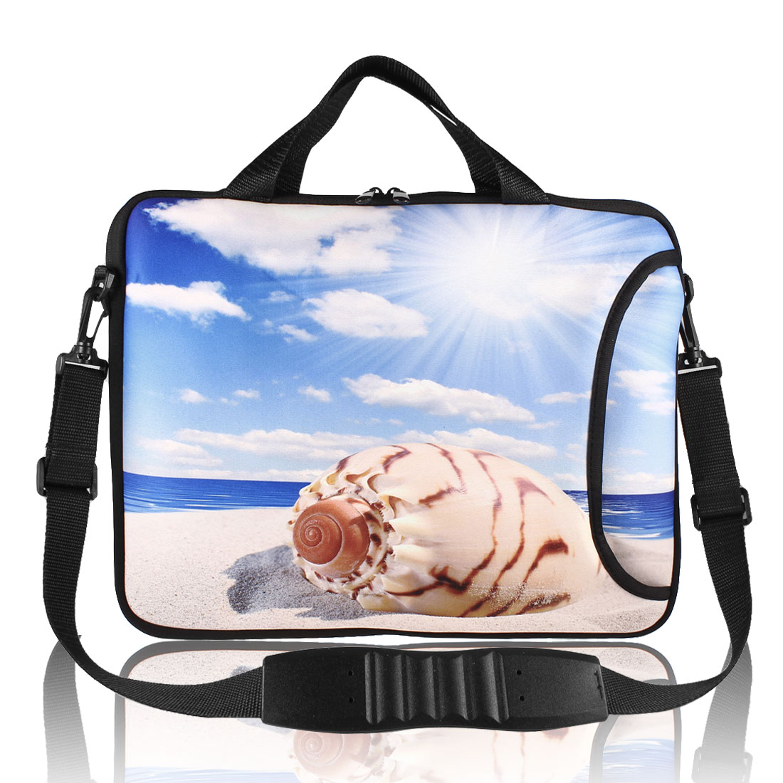 "13"" 13.1"" 13.3"" Laptop Beach Conch Neoprene Shoulder Handle Bag Case Cover"