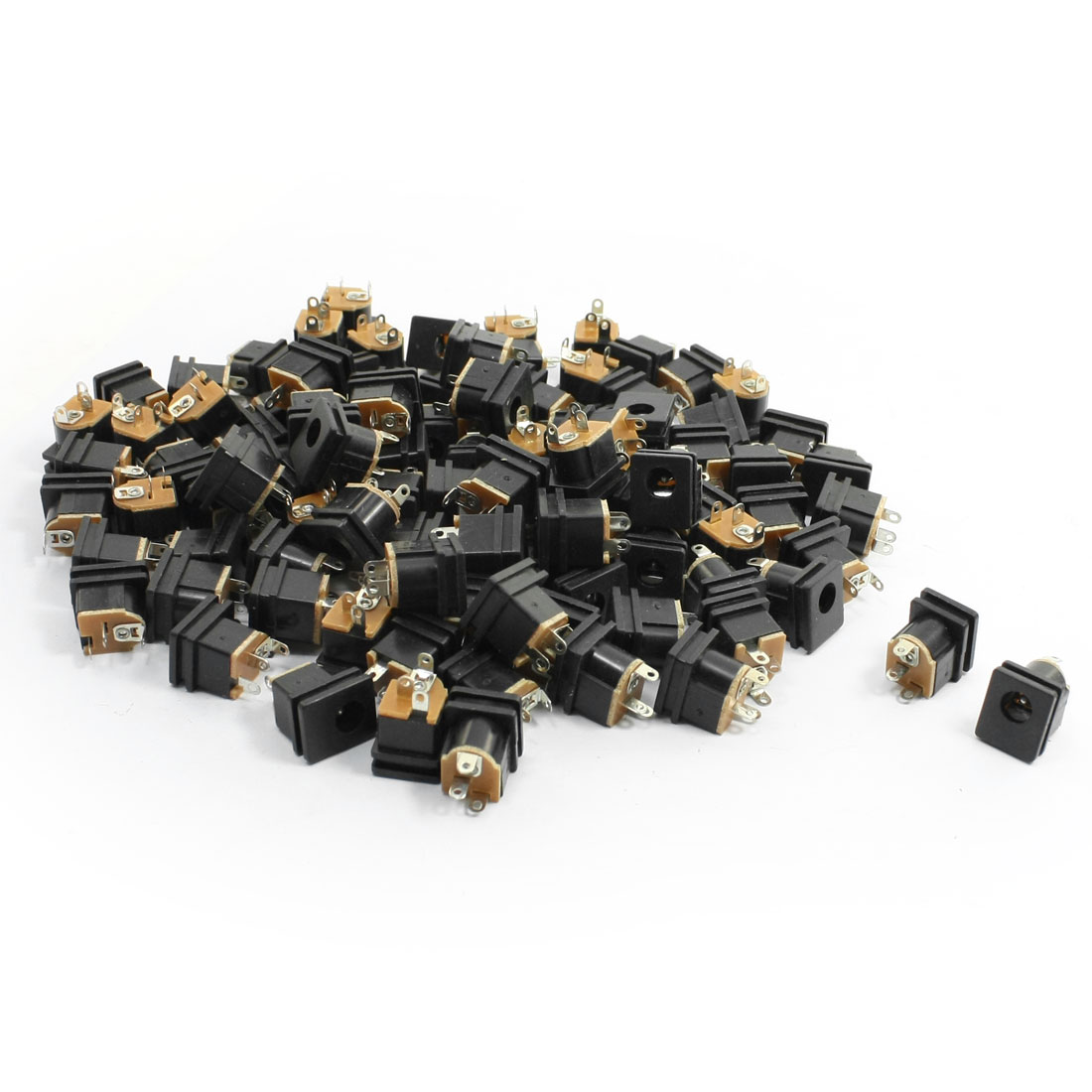 100Pcs 2.5x5.5mm Female Connector Head DC Power Supply Jack Socket for PCB