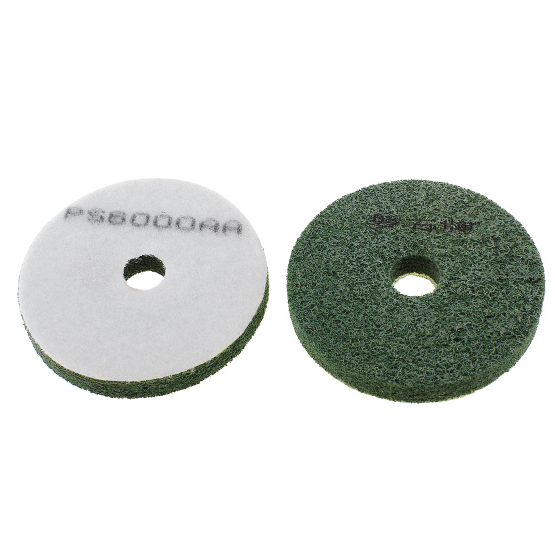 10cm Dia 6000 GritWet Concrete Diamond Polishing Pad Army Green 2 Pcs