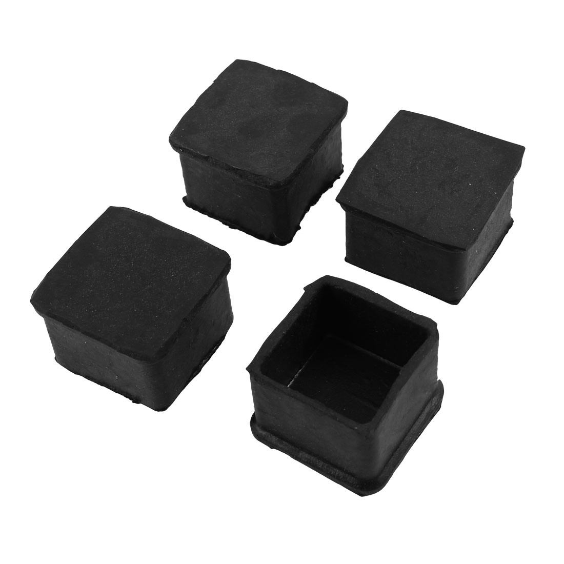 Rubber Chair Cupboard Foot Castor Cups Cover Floor Protector 4 Pcs