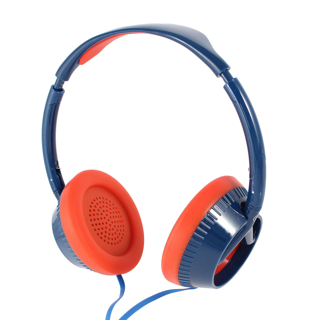 Dark Blue Red 3.5mm Plug Stereo Headset Headphone for Notebook Laptop