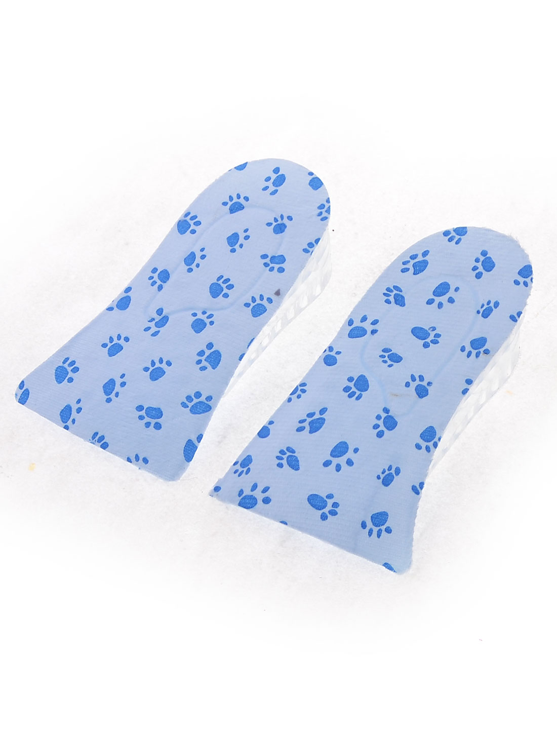 Blue Paw Pattern 3.8cm High Increase Insoles Heel Lift Shoes Pads Pair