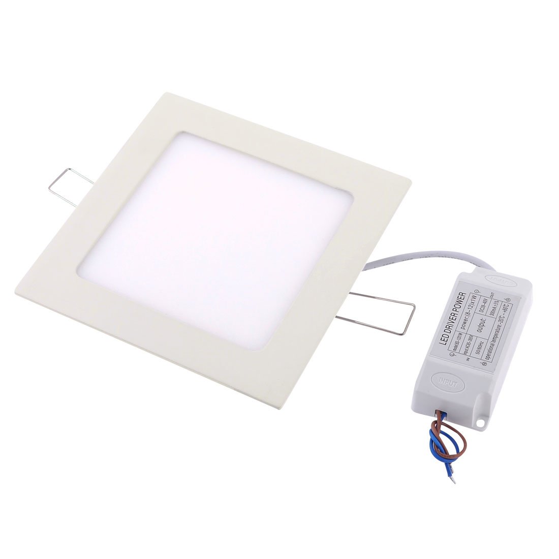 Square Design AC 85-265V Warm White 9W 45 LEDs Ceiling Down Light 3000K 620Lm