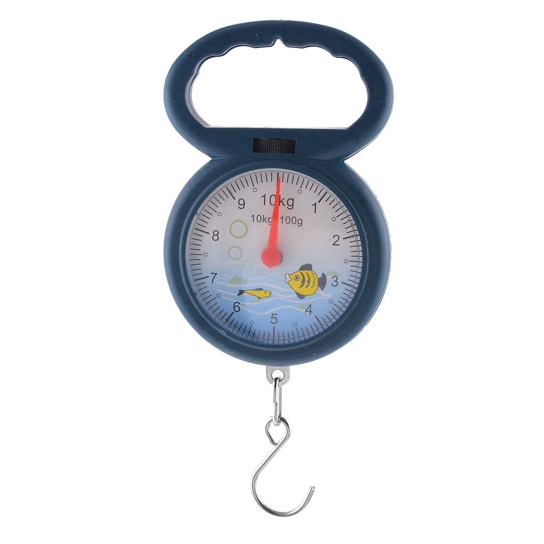 Blue Plastic Casing Round Dial Weight Measurement Handheld Scale 10kg 22lb