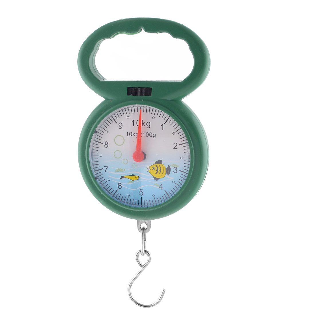 Arabic Number Dial Metal Hook 10kg 22lb Max Capacity Handheld Scale Green