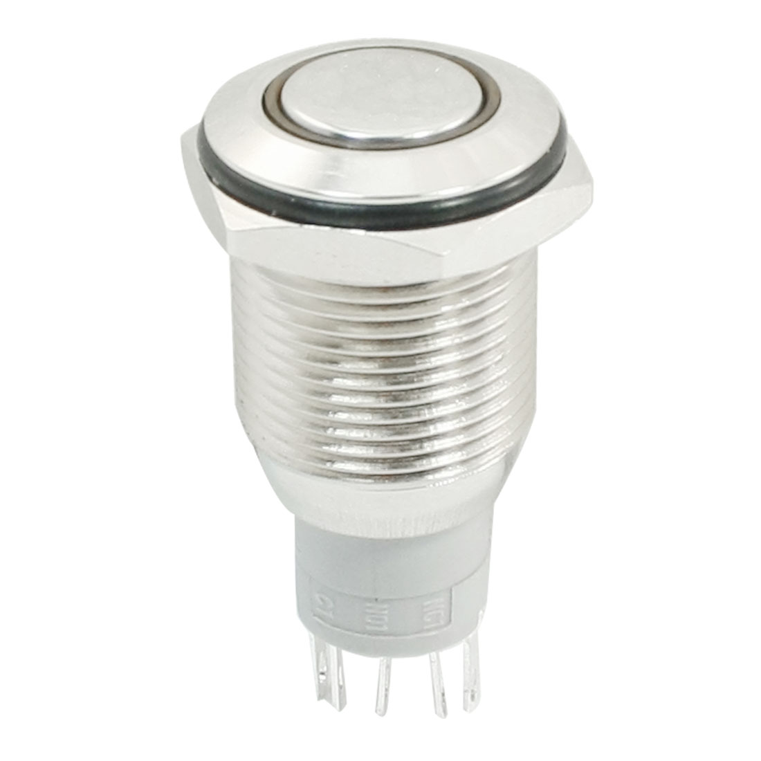 24V Red LED Lamp 5Pin SPDT Latching 16mm Mounting Pushbutton Switch