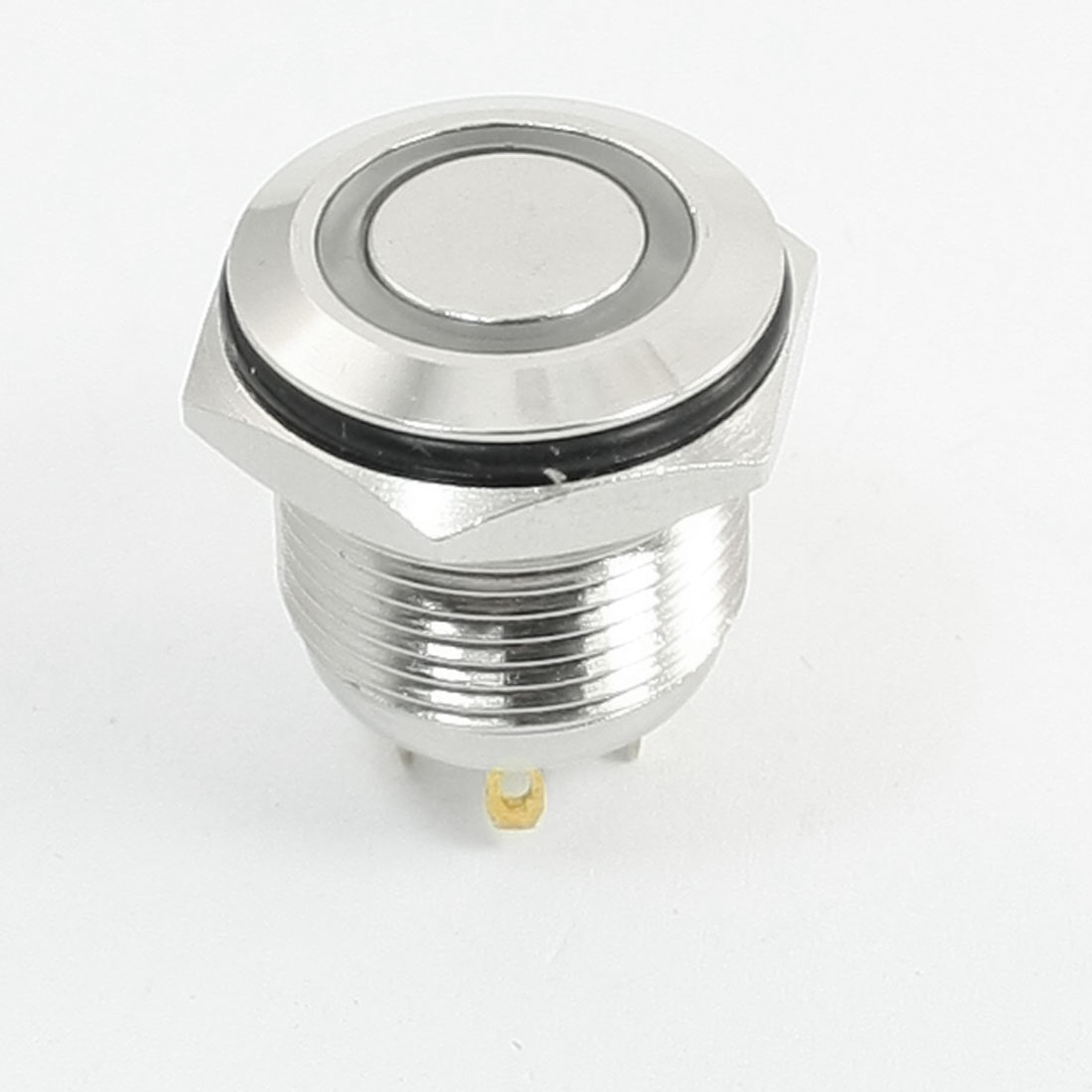 DC3V Blue Illuminated LED 16mm Metal Momentary Push Button Switch SPST