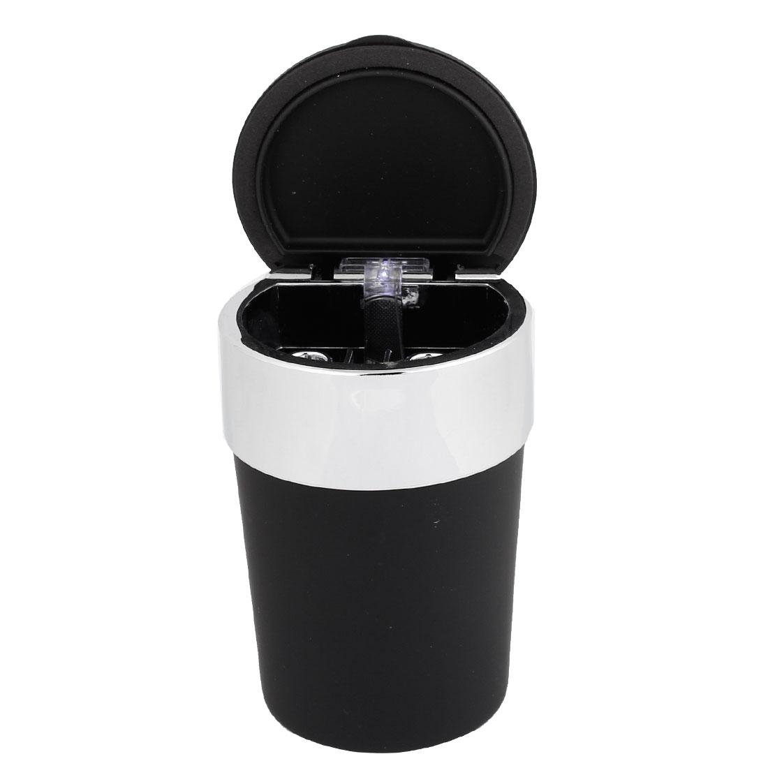 11.5x7.5cm Black Plastic Ash Container Cigarette Ash Case Box Ashtray for Car Home