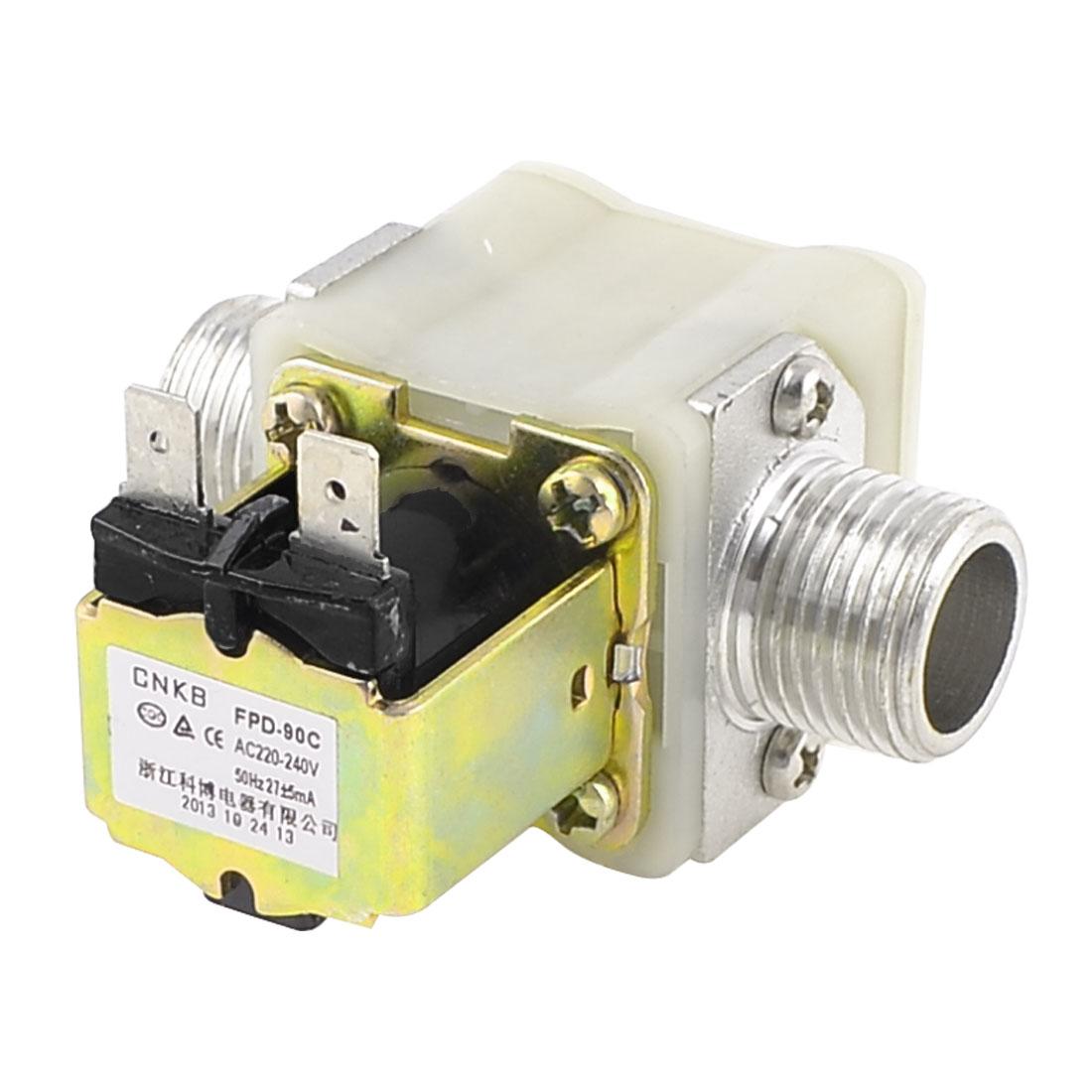 """AC 220V-240V 1/2"""" PT Male Thread Solenoid Valve for Solar Water Heater"""