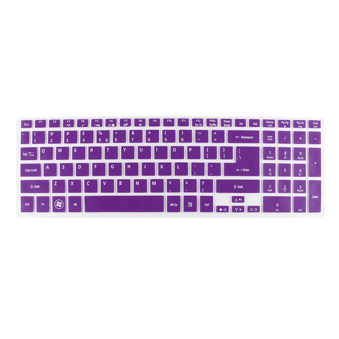 Purple Clear Silicone Laptop Keyboard Protector Film Skin for Acer 5830TG 5830T