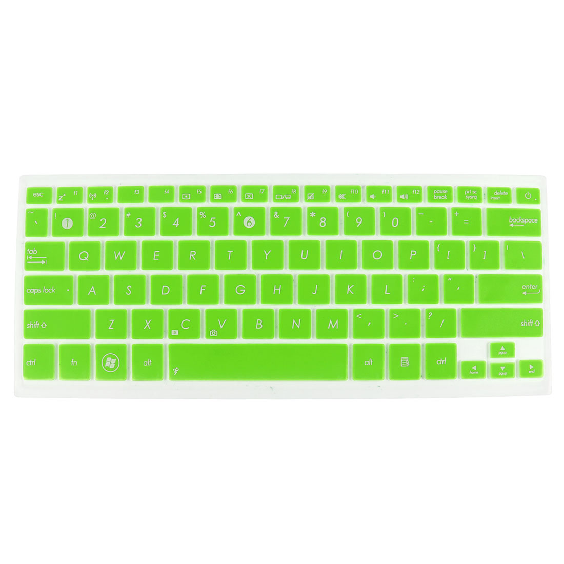 Laptop Dustproof Keyboard Protector Film Cover Green Clear for Asus UX31 UX32