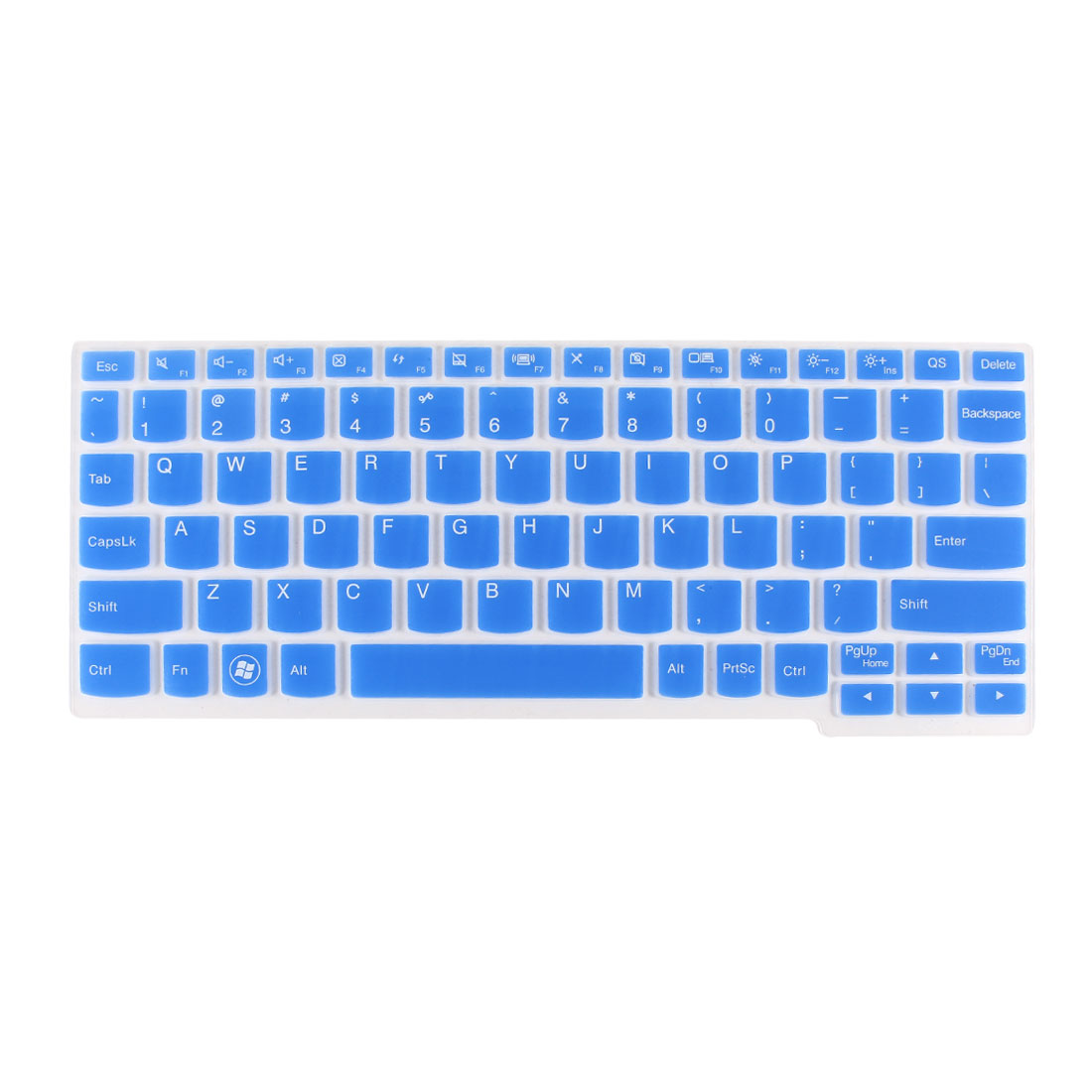 Handy Laptop Computer Keyboard Protective Film Cover Blue Clear for Lenovo S206