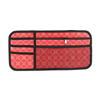 Red Nylon Rectangle Zip up VCD DV CD Discs Holder Bag for Auto Car