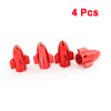 Spare Part Car Red Aluminum Alloy Rocket Shape Tire Tyre Valve Cap Cover 4 Pcs